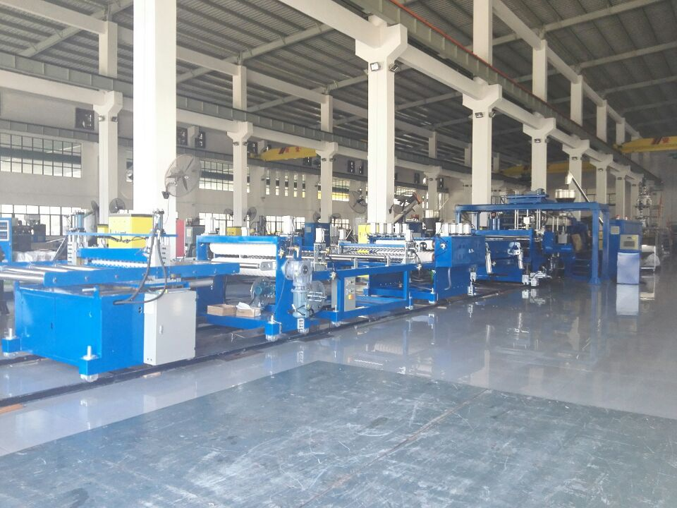 PET wave roof sheet machine