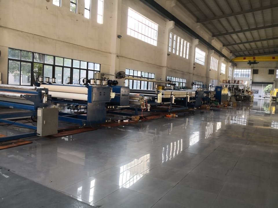 2.2 meter wide PP hollow profile sheet machine is ready for shipment