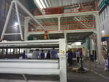 4200 MM wide spun-bond non-woven fabric machine is inspected successfully