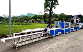 PVC cable trunking machine