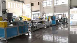 New Type 3 color Yarn Braided Pipe Machine, high quality garden hose extrusion machine
